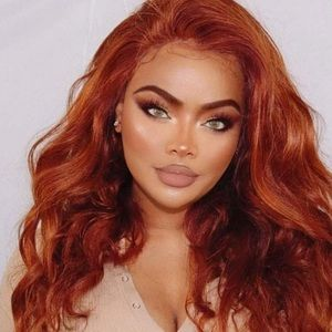 "💫 22"" COPPER RED BODY WAVY LACE FRONT WIG *NEW*"